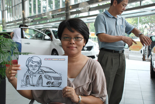 Caricature live sketching for Tan Chong Nissan Almera Soft Launch - Day 1 - 16