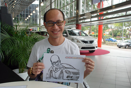 Caricature live sketching for Tan Chong Nissan Almera Soft Launch - Day 2 - 16
