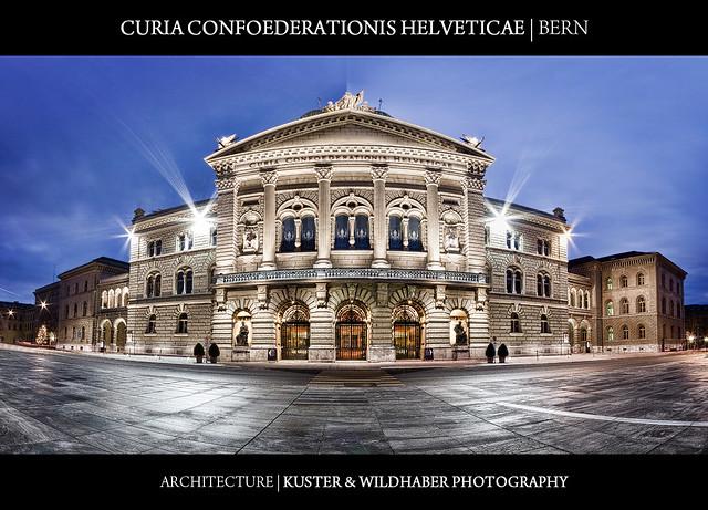 Switzerland - Bundeshaus Bern - Curia Confoederationis Helveticae - Federal Palace of Switzerland