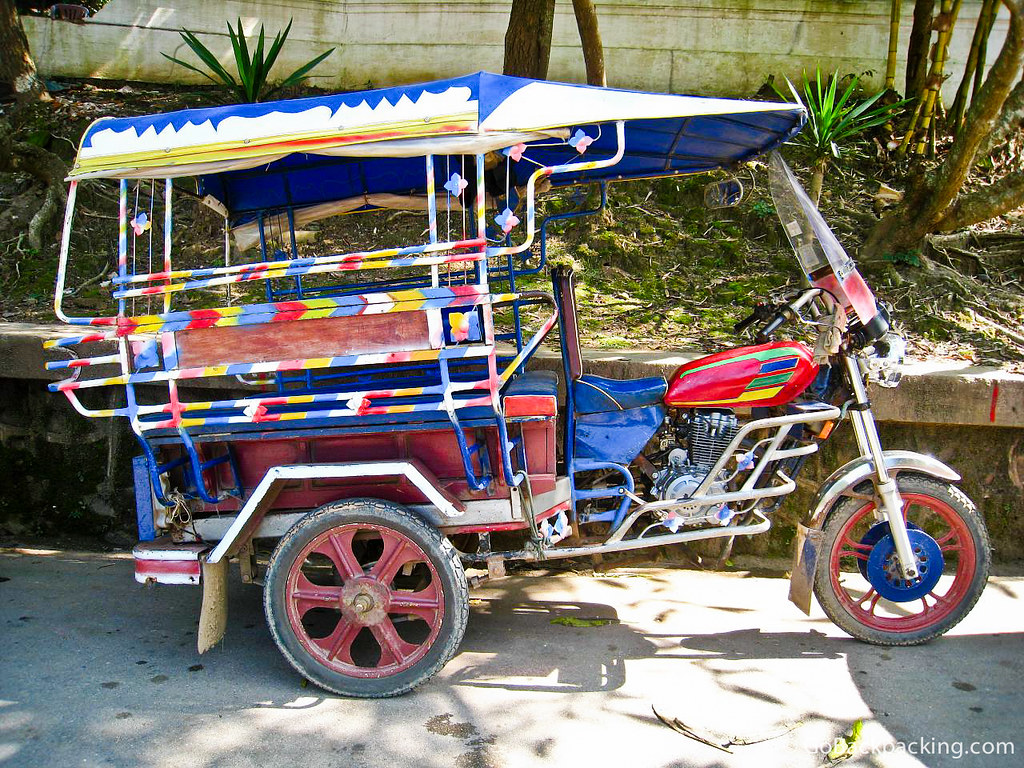 Colorful tuk tuk in Vientiane, Laos