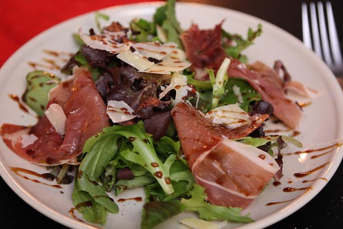 La Quercia Prosciutto Salad with Balsamic Glaze and Parmigiano-Reggiano