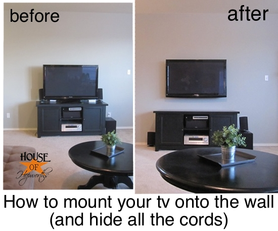 mounting your tv to the wall and hiding all the cords. Black Bedroom Furniture Sets. Home Design Ideas