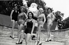 Bathing beauties at Santa Claus Land