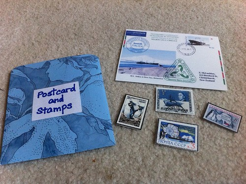 Antarctica Postcard and Stamps Created from Google Images (Photo by Kingdom of the Pink Princesses)
