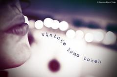 © vintage lomo bokeh lips