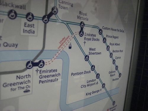 Emirates Greenwich Pennisula on Tube Map