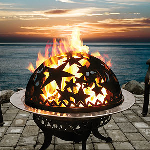Patio Wood fire pit table