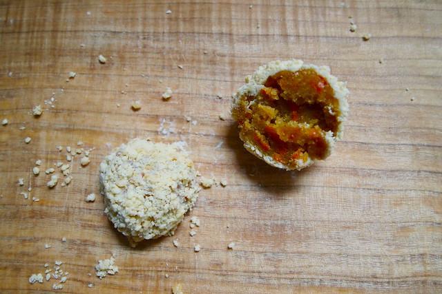A carrot cake truffle