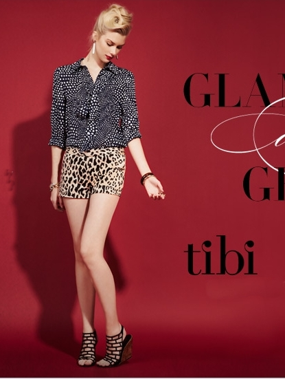 tibi pre-spring collection polka dots mixed with leopard print