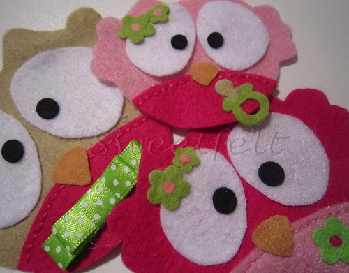 ♥♥♥ Família de corujitas... by sweetfelt \ ideias em feltro