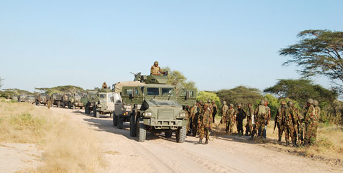 Kenyan Defense Forces occupying the Horn of Africa nation of Somalia. The Kenyan government has invaded their neighbor in conjunction with an imperialist onslaught into the strategic state. by Pan-African News Wire File Photos