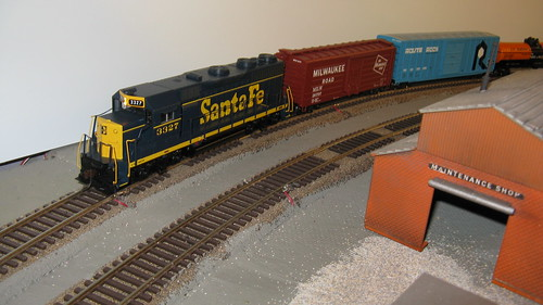 An Athearn Santa Fe freight train. by Eddie from Chicago