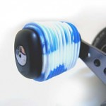 Blue White Fishing Reel Grip