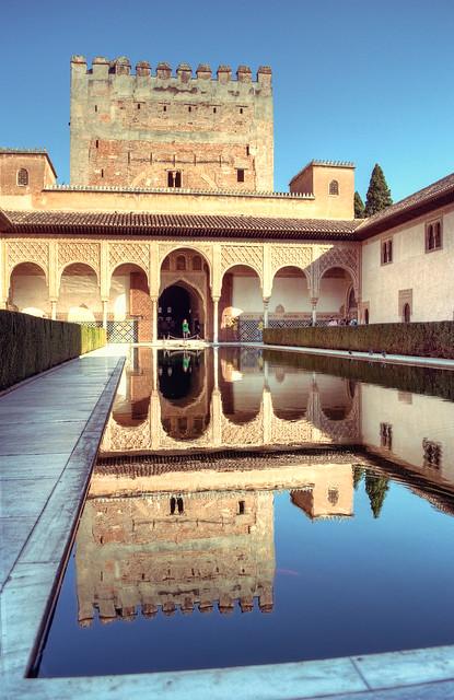 Alhambra, Granada pool