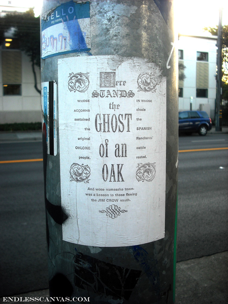 Ghost of an paste up - Oakland, Ca