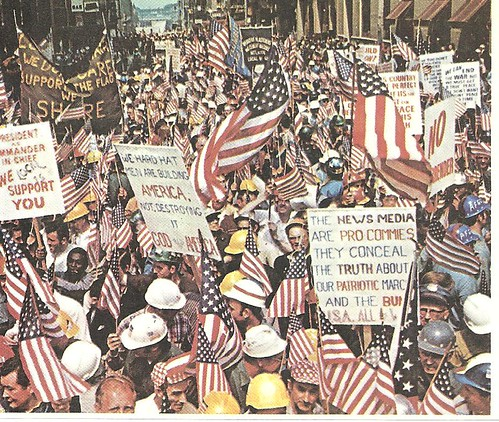 NYC Construction Workers Demonstration - World Wide Photos