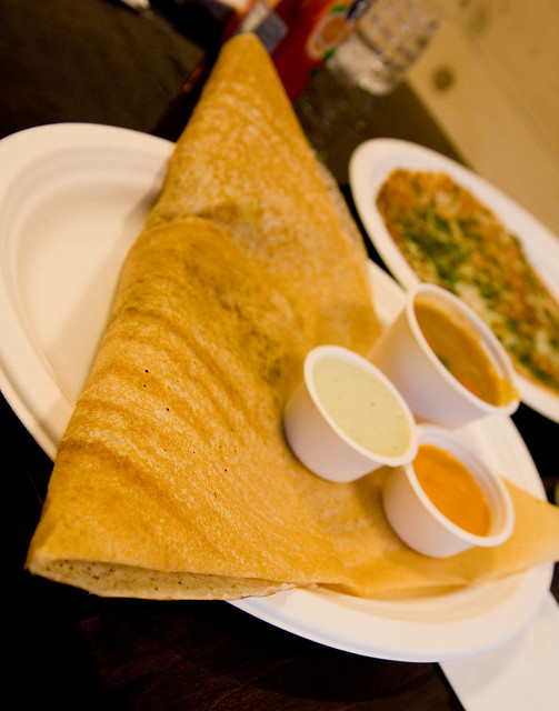 Chicken chettinad dosa, Indian Creperie