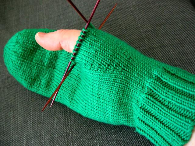 palm of mitten