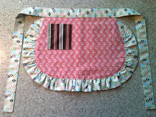 Reversible little girl's apron view 2 by HeatherEndearing