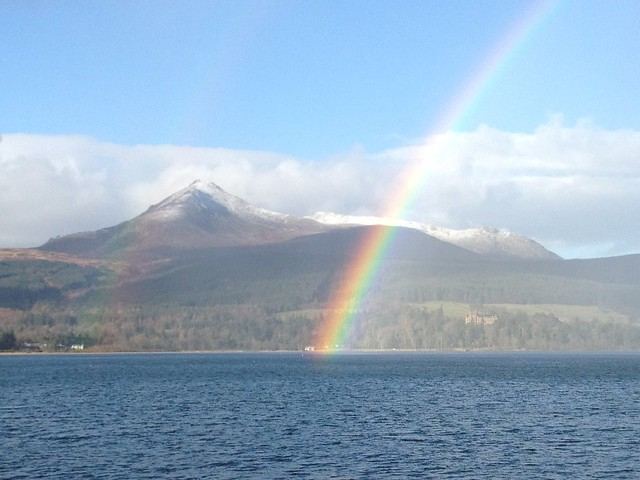 Rainbow and Goatfell