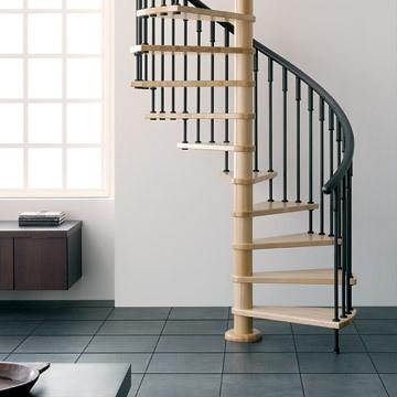 Las escaleras de caracol solucion ideal a falta de for Como decorar una escalera de caracol