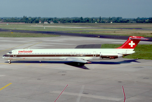 HB-INM - 1981 build McDonnell-Douglas MD81, later operated in Argentina with Dinar Lineas Aereas