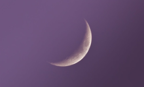 Mauve Cloudy Moon - 270112 by Mick Hyde