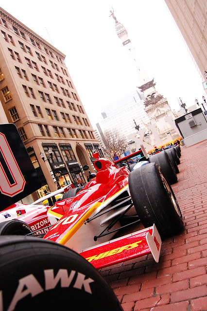 Super Cars in downtown Indy