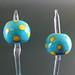 Earring pair : Turquoise dot