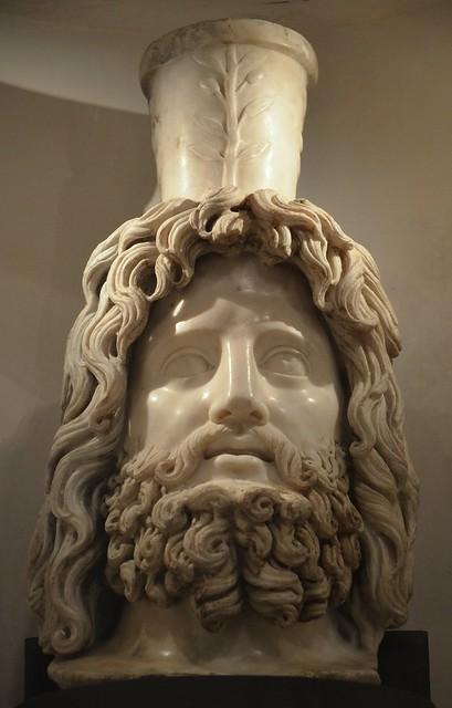 Head of Serapis, 2nd - early 3rd century AD, Londinium, Roman London, Museum of London