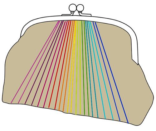 Rainbow purse mockup