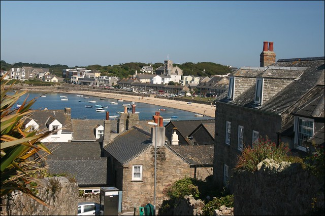 View over Hugh Town, St Marys, Isles of Scilly