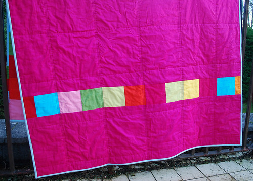 back of dead simple quilt