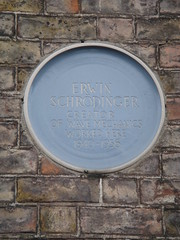 Photo of Erwin Schrödinger blue plaque