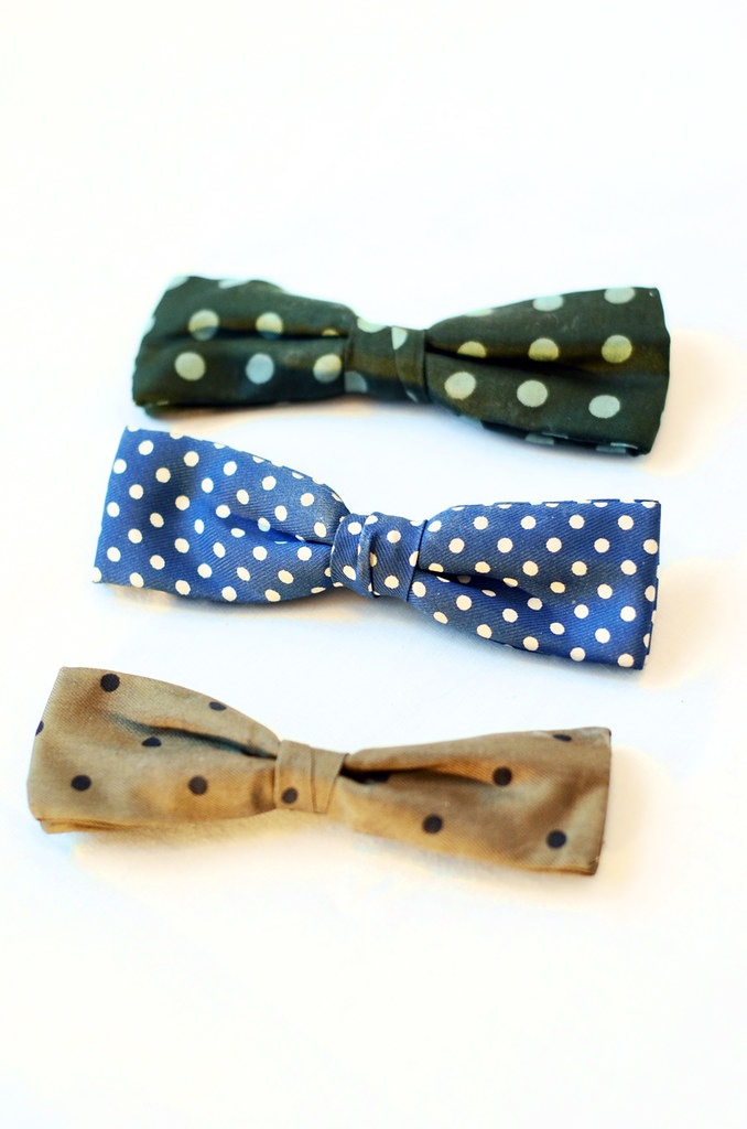 Vintage Polka Dot Bow Ties