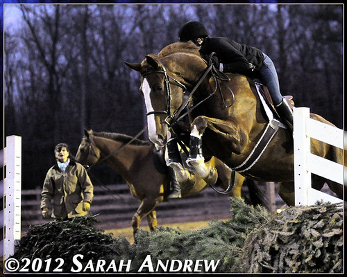 Kon takes a mighty leap during Lesson Night at Handy Acres