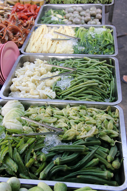 Boiled vegetables for nam prik