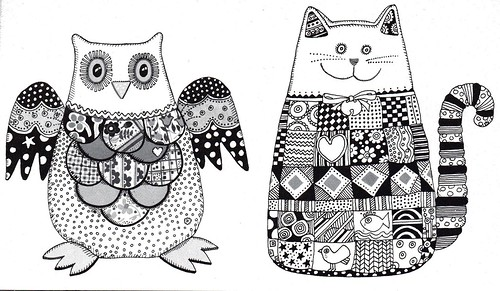 vintage craft owl