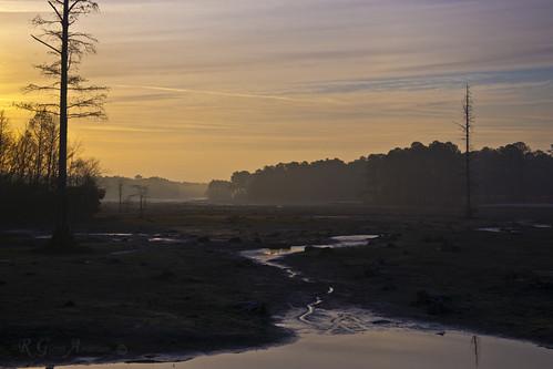 mist lake sunrise stream cyprus dry drain a850clouds