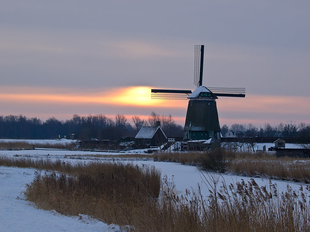 Sunrise - Winter in Amsterdam
