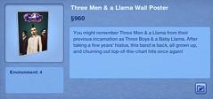 Three Men & a Llama Wall Poster