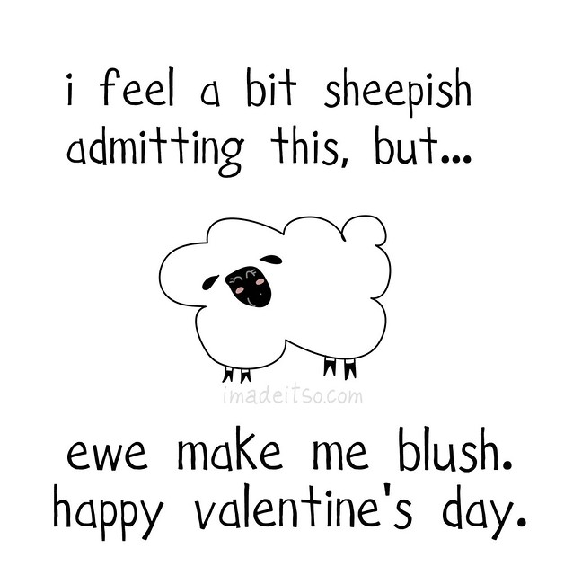 ewe make me blush valentine