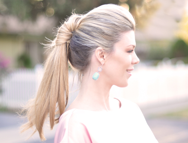 sleek twisted ponytail hair tutorial -side