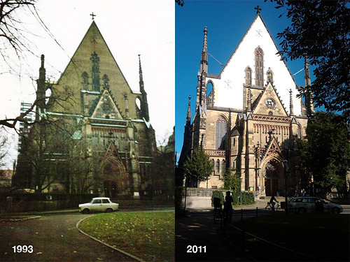 Church of St Thomas then and now by Sally McPhail