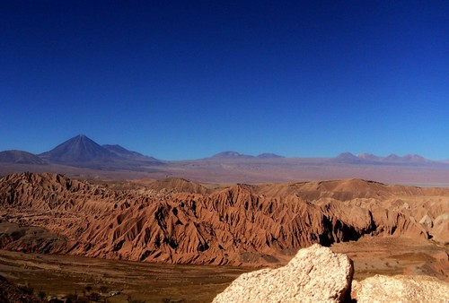 Salt Mountain range an the Andes range - San Pedro de Atacama - Chile