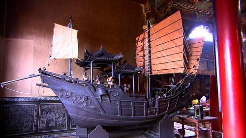 信徒餽贈的銅製王船,重達三噸!