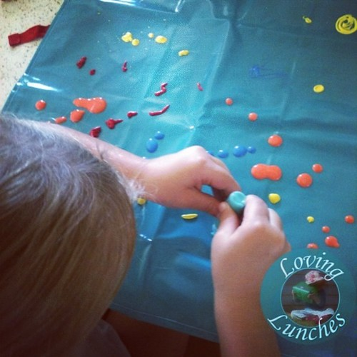 Loving toddler art on our @jamieoliver paint your own apron from @woolworths… #jamiesfoodrevolution #kidsinthekitchen