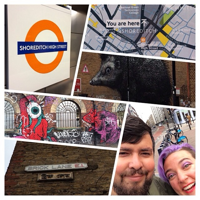 Just dropped off the #muertita clan at the Brick Lane Gallery in #Shoreditch #London