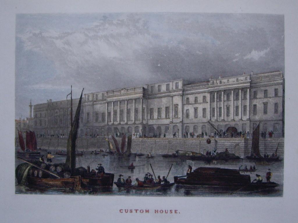 custom-house-london-c-1840