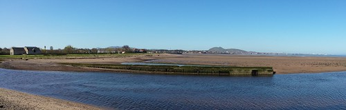 View from the mouth of the Esk, looking west to Edinburgh
